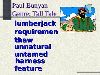Paul Bunyan Vocabulary Power Point Reading Street 2011