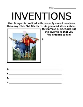 Paul Bunyan's Inventions