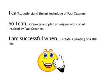Paul Cezanne Power Point Presentation Lesson