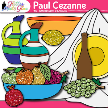Paul Cezanne Clip Art {Still-Life Shapes for Art History and Lesson Ideas}