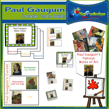 Paul Gauguin Interactive Foldable Booklets