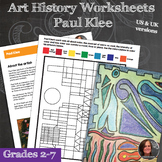 Paul Klee Art History and Activities Worksheets- Paul Klee