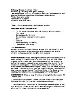 Paul Klee Art Lesson Plan