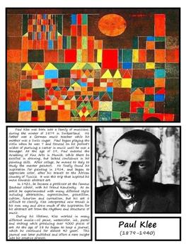 Paul Klee Artist Bundle with Montessori Cards