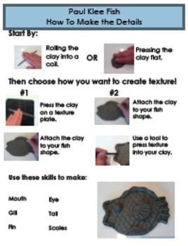 Paul Klee Fish - Instruction Sheet Details