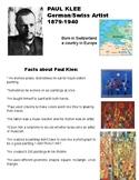 Paul Klee Fun Fact Sheet