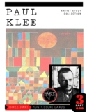 Artist Paul Klee Montessori 3 Part Cards with Display Card