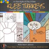 Paul Klee Turkeys Interactive - Abstract Art - Thanksgivin