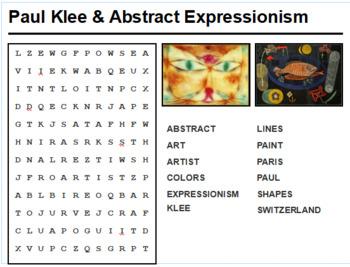 Paul Klee Word Search