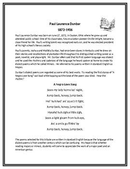 "Paul Laurence Dunbar's Poem ""The Debt"""