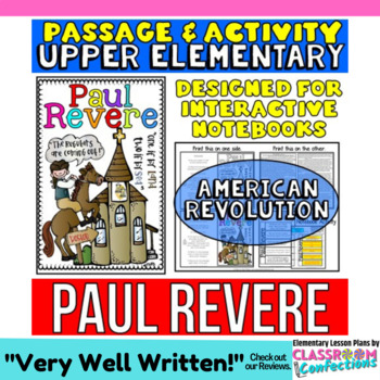 Paul Revere: Biography Reading Passage: American Revolution