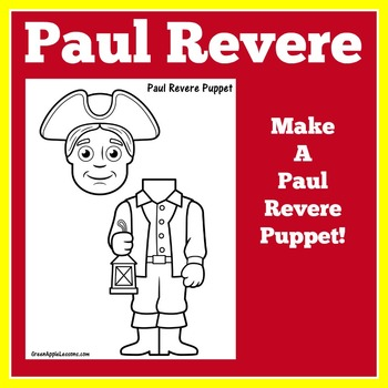 Paul Revere Craft | Paul Revere Activity | Colonial America Craft