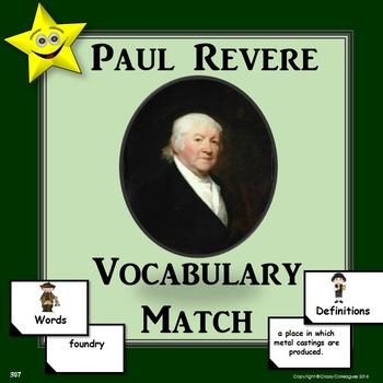 Paul Revere Vocabulary Match