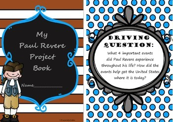 Paul Revere: A Project Based Learning Activity