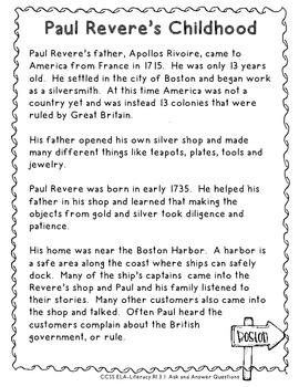 Paul Revere: A Supplemental Unit