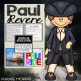 Paul Revere Activities, Vocabulary, Close Reading, and more!