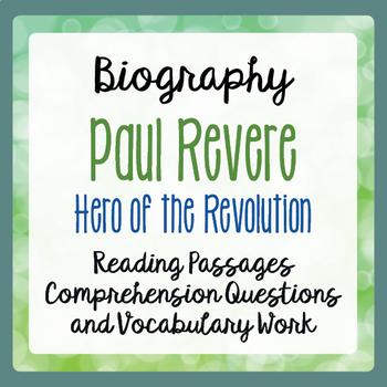 Paul Revere American Revolution Biography Informational Te