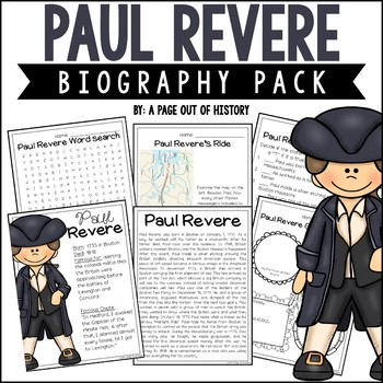 Paul Revere Biography Pack | Distance Learning
