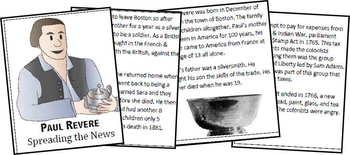 Paul Revere Biography Report (K-8th)