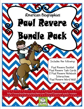 Paul Revere Bundle Pack (Task Cards Included)