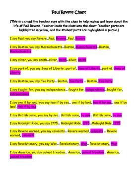 Paul Revere Chant