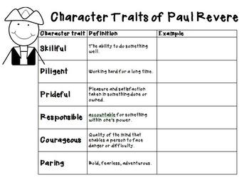 Paul Revere Character Traits