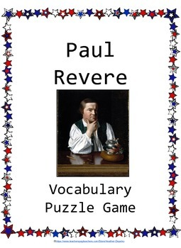 Paul Revere Differentiated Puzzle Game