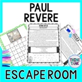 Paul Revere ESCAPE ROOM: American Revolution, Boston Tea Party, Print & Go!