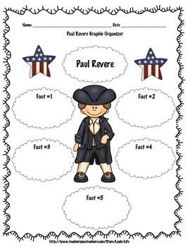 4th Grade (NEW GSE) Paul Revere Informational Writing Printable FREEBIE