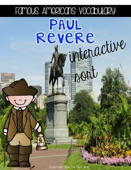 Paul Revere {Interactive Vocabulary Sort}
