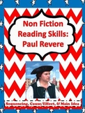 Paul Revere Non Fiction Reading Packet with Common Core Reading Standards!!!