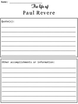 Paul Revere Organizers