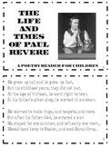 Paul Revere Poetry Reader-Social Studies-COMMON CORE