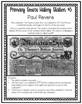 Paul Revere: Primary Source History Stations