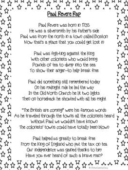 Paul Revere Rap Lyrics