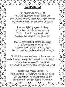 Paul Revere Rap Lyrics