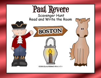 Paul Revere- Read and Write The Room- Grades 4-7