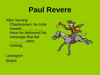 Paul Revere Review power point