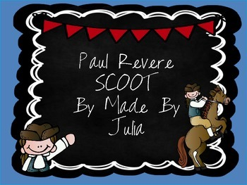Paul Revere SCOOT- Great for Georgia Milestone!