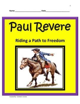 Paul Revere STUDY GUIDE-  3rd Grade Social Studies