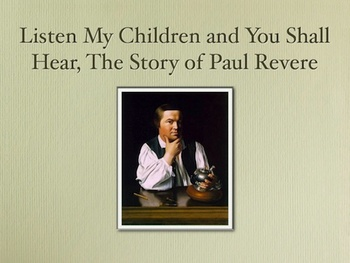 Paul Revere Slide Show Movie and Script -  American Revolution