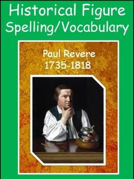 Paul Revere Spelling/Vocab GPS Social Studies Historical Figure