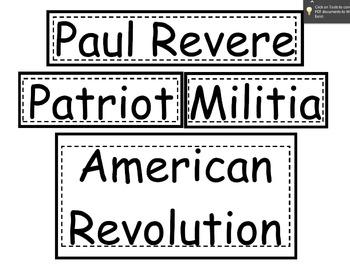 Paul Revere Teaching Packet REVAMPED!!!