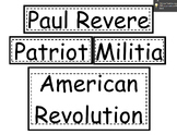 Paul Revere Teaching Packet REVAMPED!!!