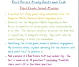 Paul Revere Unit Review Guide and Test