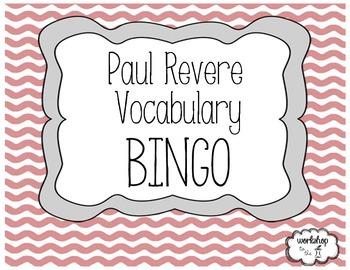 Paul Revere Vocabulary BINGO