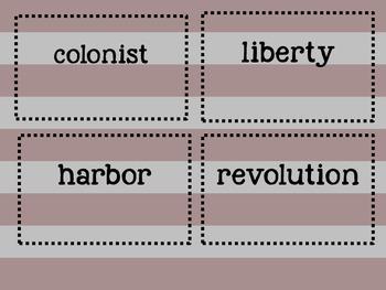 Paul Revere Vocabulary match up