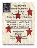Paul Revere Word Problems FREEBIE - Common Core 3rd Grade Math