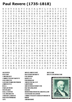 Paul Revere Word Search