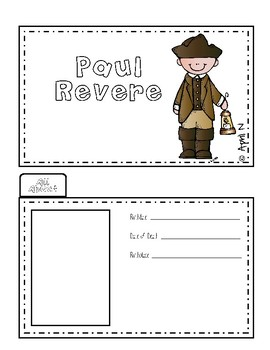 Paul Revere Writing Tab Book